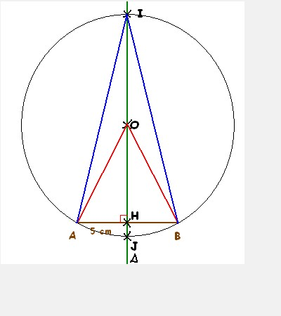 Calcul d'angles dans un triangle isoc�le