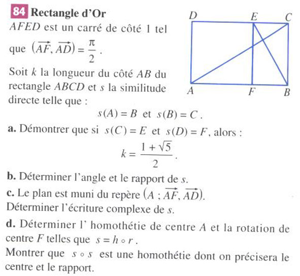 rectangle d or exercice
