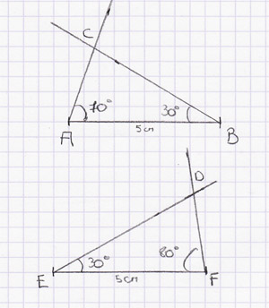 Triangle isom�trique
