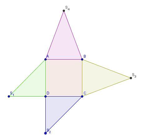 comment dessiner une pyramide a base carre