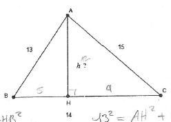 comment trouver hauteur d un triangle rectangle