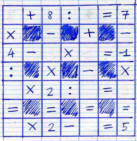 Grille myst re exercice de math matiques de cinqui me - Creer une grille de mots croises en ligne ...