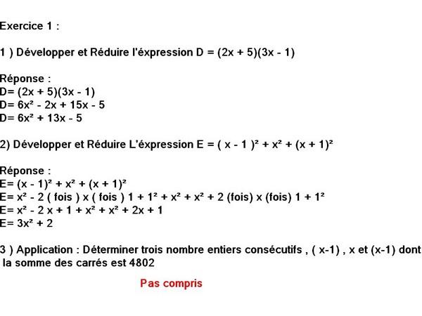 Petit exercice de Mathématiques sur les puissance, besoin d'aide s'il... 4ème Mathématiques