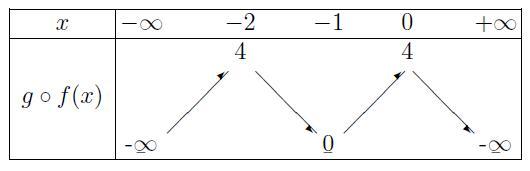 Tableau de variation g o f - Forum mathématiques première dérivation - 308915 - 308915