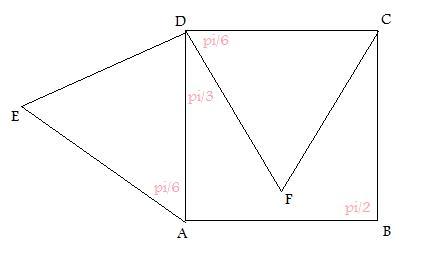 dm trigo calcul d 39 angles dans un triangle et un carr forum de maths 326301. Black Bedroom Furniture Sets. Home Design Ideas
