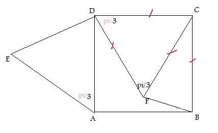 Dm trigo calcul d 39 angles dans un triangle et un carr for Marche d angle calcul