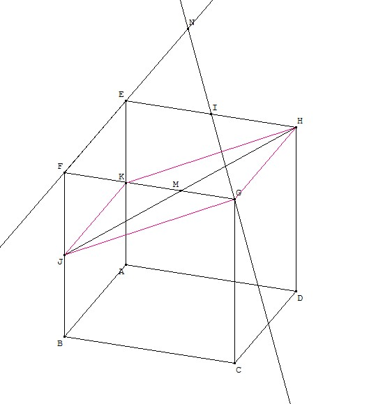 Intersection d'une droite et d'un plan - Maths-cours