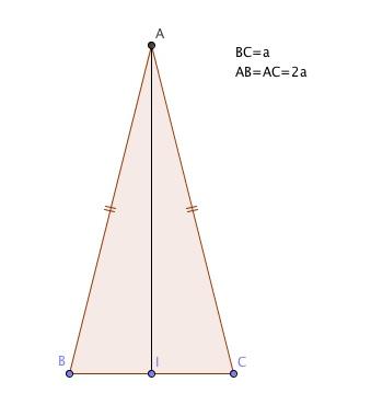 En kortsida i triangel