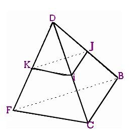 calculer le volume d 39 une pyramide r duite exercice de g om trie dans l espace 359219. Black Bedroom Furniture Sets. Home Design Ideas