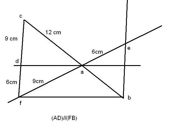 Théorème de thalès, deux exercice, exercice de Géométrie ...