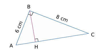 comment trouver la hauteur d un triangle rectangle