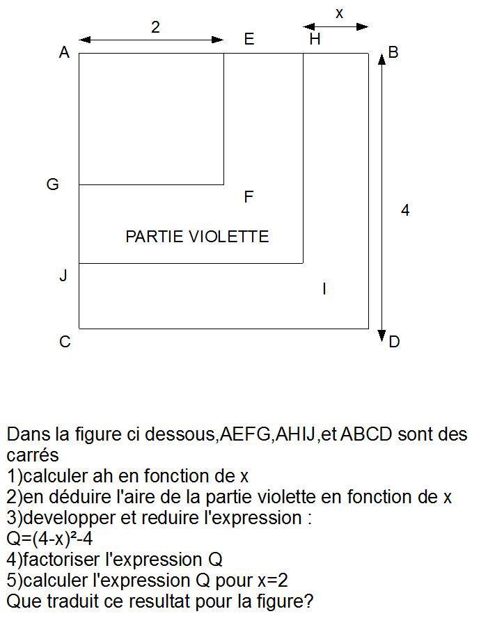 Exercice Qui Mele Geometrie Et Identites Remarquables Forum Mathematiques Troisieme Developpement Et Factorisation 384730 384730