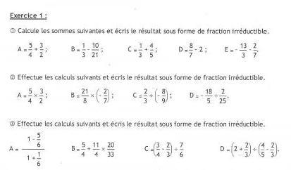 Problème de maths sur les fractions 3ème Mathématiques