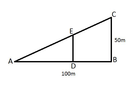 partage d 39 un triangle rectangle en 2 parties de m me aire forum de maths 414356. Black Bedroom Furniture Sets. Home Design Ideas