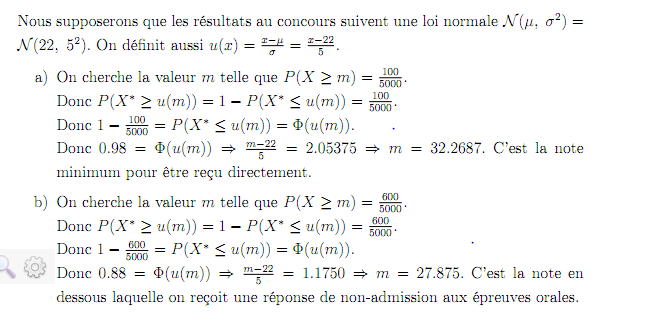 Exercice sur la loi normale en probabilit niveau - Comment lire la table de la loi normale ...