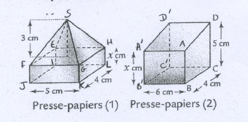 Calcul volume et aire en quation presse papiers forum - Calcul volume litre ...
