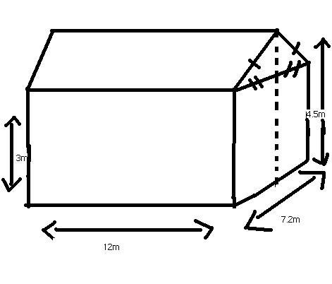 Calcul de l 39 air d 39 un toit exercice de g om trie 436194 - Calcul surface maison individuelle ...