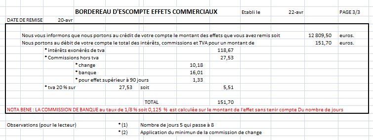 bordereau d'escompte - forum de maths - 454666