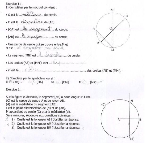 Favori Devoir de géométrie, exercice de bases de la géométrie - 473624 WP99