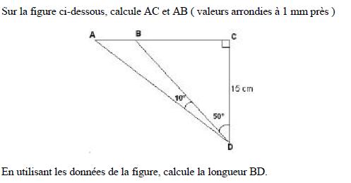 Exercice Trigonometrie - Forum mathématiques troisième trigonométrie - 491680 - 491680