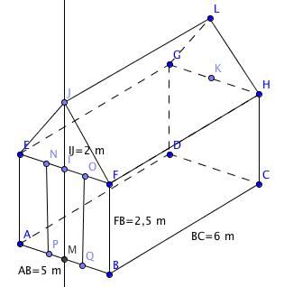 Calculer l aire et volume exercice de math matiques de cinqui me 498133 - Calcul surface peinture maison ...