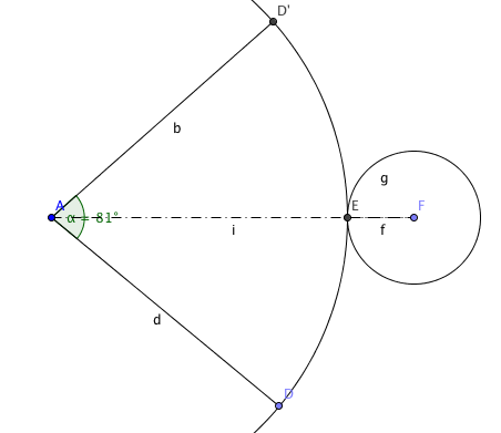 how to find the centre angle for a cone