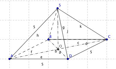 comment trouver une hauteur d 39 une pyramide exercice de pyramide et c ne 521539. Black Bedroom Furniture Sets. Home Design Ideas
