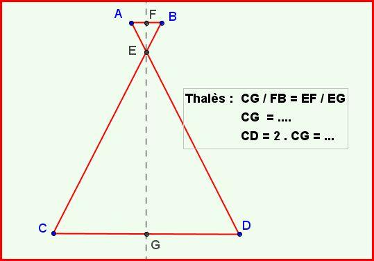 Thalés 3éme : exercice de mathématiques de troisième - 522563