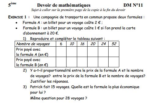 Proportionnalite Forum Mathematiques 541807