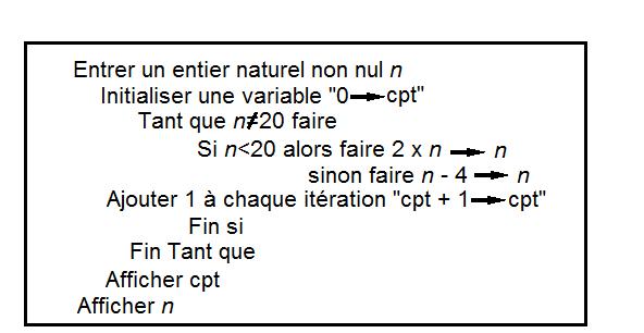 Exercice Algorithme Seconde Exercice De Algorithmique Et Programmation Theme Transversal 546609