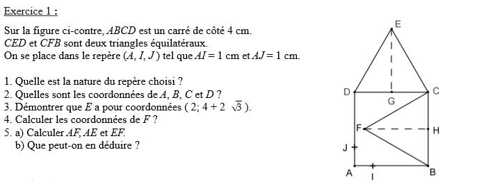 bloquer sur un DM de math pour demain 2nde Mathématiques