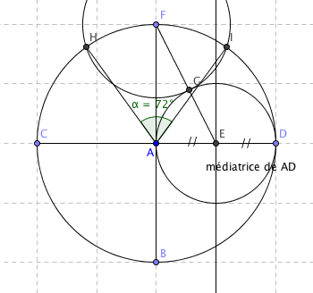 Comment faire un angle de 72 en utilisant la r gle et le for Comment faire des angles de plinthes