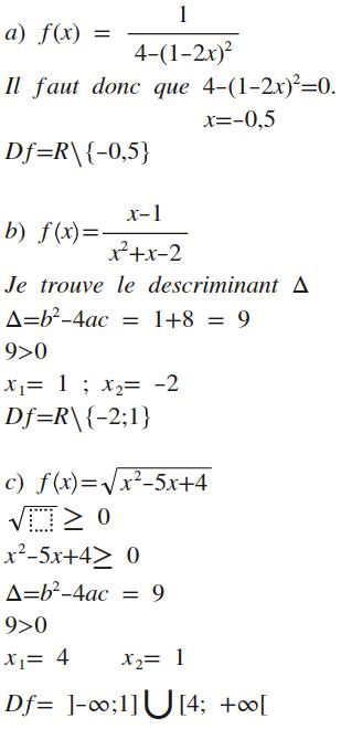 ensemble de definition math