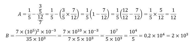 fractions irréductibles exo de Dm 3ème (type brevet ...