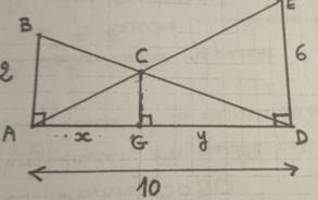 Exercice de géométrie seconde trouver x et y - forum de maths - 674901