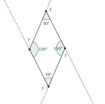 Mesure d 39 angle d 39 un losange exercice de math matiques de sixi me 699253 - Comment couper un angle a 45 degres ...