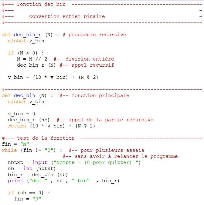 Algorithme Conversion En Binaire Forum Mathematiques Ecole Ingenieur Autre 735579 735579