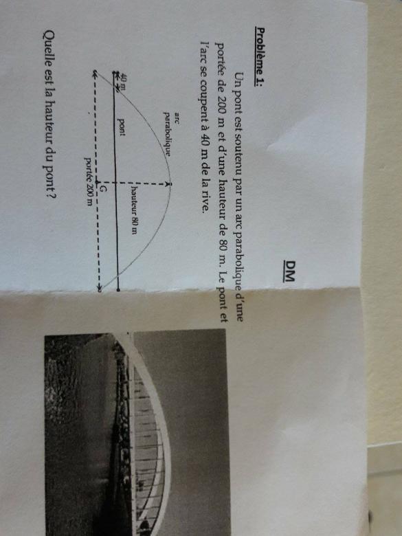 DM de Maths 1ère S : exercice de mathématiques de première - 751693