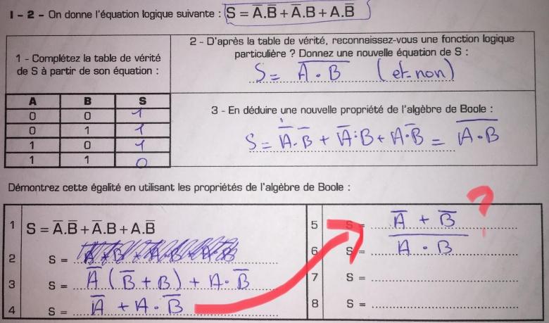 Logique Algebre De Boole Exercice De Logique 822319